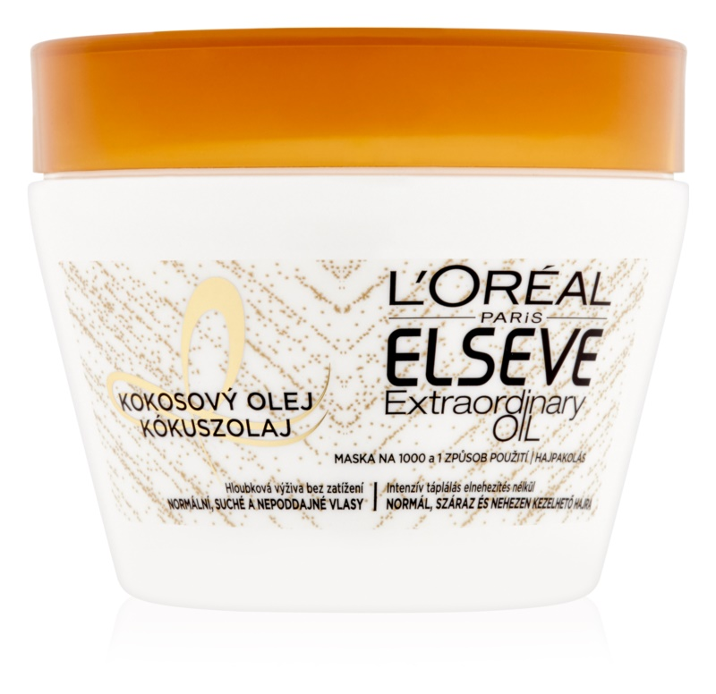 L'Oréal Paris Elseve Extraordinary Oil Coconut Nourishing Mask with Coconut Oil for Normal to Dry Hair