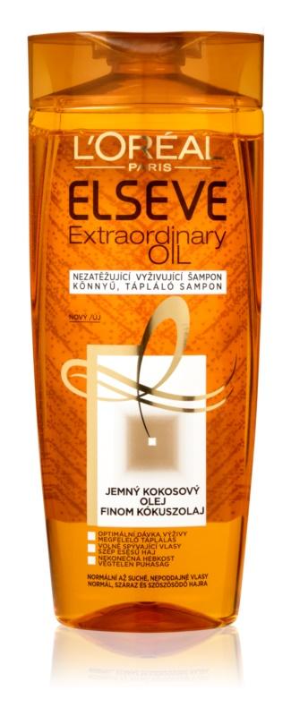 L'Oréal Paris Elseve Extraordinary Oil Coconut поживний шампунь для нормального та сухого волосся