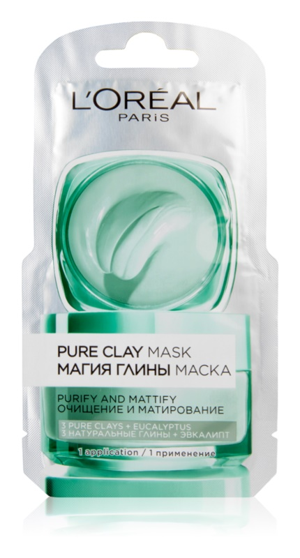 L'Oréal Paris Pure Clay masque purifiant et matifiant