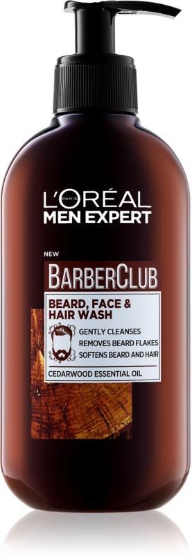 L'Oréal Paris Barber Club čistilni gel za brado, obraz in lase