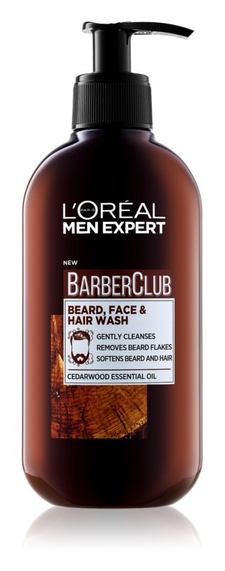 L'Oréal Paris Barber Club Gel Cleanser for Beard, Face and Hair