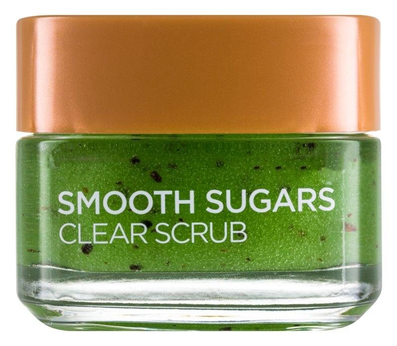 L'Oréal Paris Smooth Sugars очищуючий пілінг   від чорних цяток