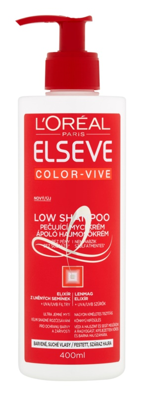 L'Oréal Paris Elseve Color-Vive Low Shampoo Nourishing Washing Cream For Dry And Colored Hair
