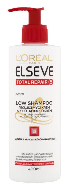 L'Oréal Paris Elseve Total Repair 5 Low Shampoo ochranný krém na umývanie pre suché a poškodené vlasy