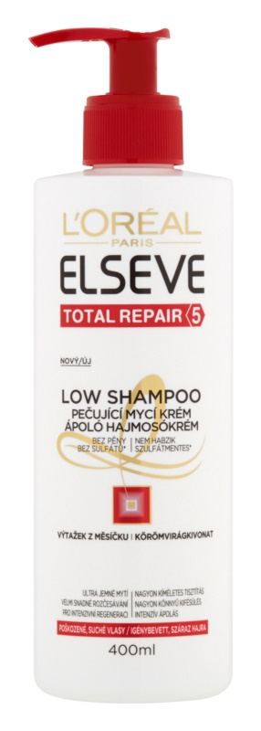 L'Oréal Paris Elseve Total Repair 5 Low Shampoo Pflegende Seifencreme für trockenes und beschädigtes Haar