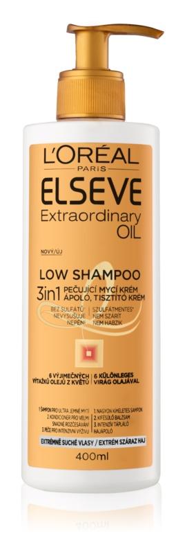 L'Oréal Paris Elseve Extraordinary Oil Low Shampoo Pflegende Seifencreme für sehr trockene Haare