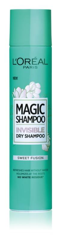 L'Oréal Paris Magic Shampoo Sweet Fusion Trockenshampoo für mehr Haarvolumen, hinterlässt keine weißen Stellen