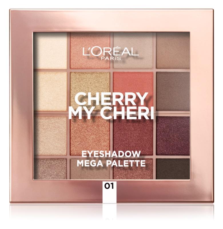 L'Oréal Paris Eyeshadow Mega Palette Cherry My Cheri paleta de sombras