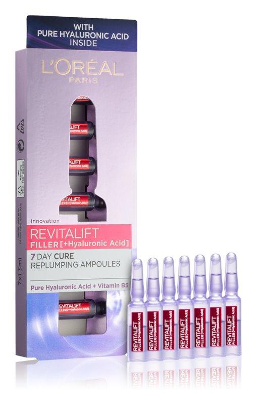 L'Oréal Paris Revitalift Filler hialuronski serum za zapolnjenje gub v ampulah