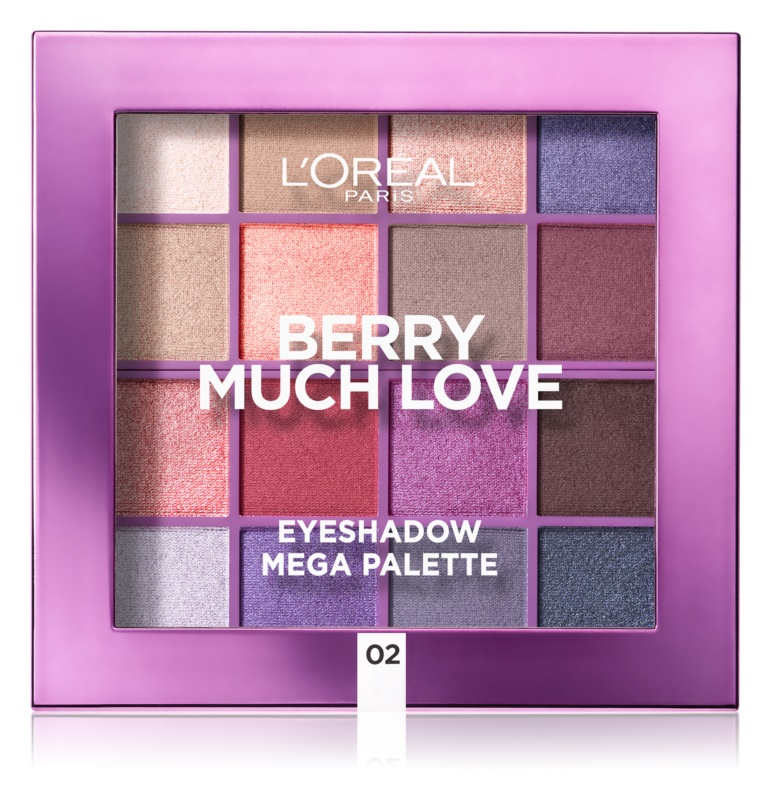 L'Oréal Paris Eyeshadow Mega Palette Berry Much Love paletka očných tieňov