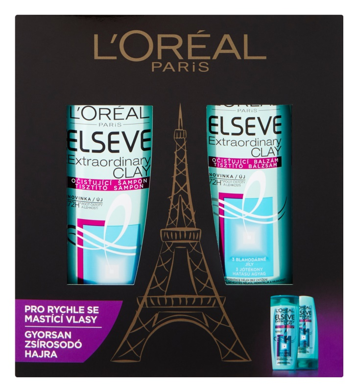 L'Oréal Paris Elseve Extraordinary Clay coffret IV.