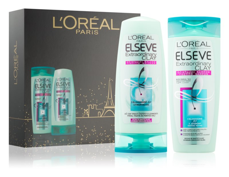 L'Oréal Paris Elseve Extraordinary Clay kosmetická sada I.