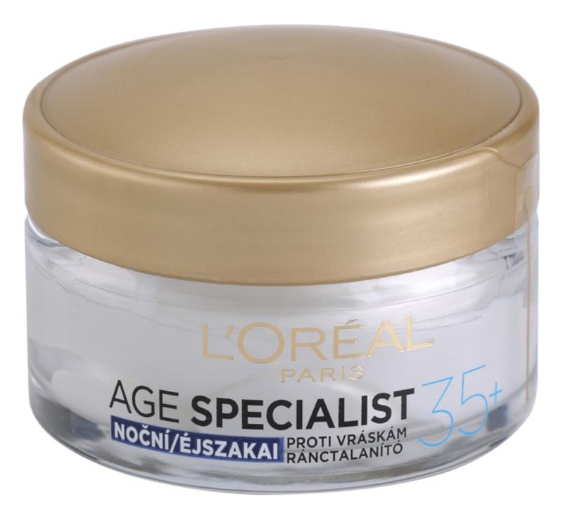 L'Oréal Paris Age Specialist 35+ nočný krém proti vráskam