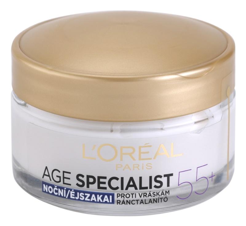 L'Oréal Paris Age Specialist 55+ Nachtcreme gegen Falten