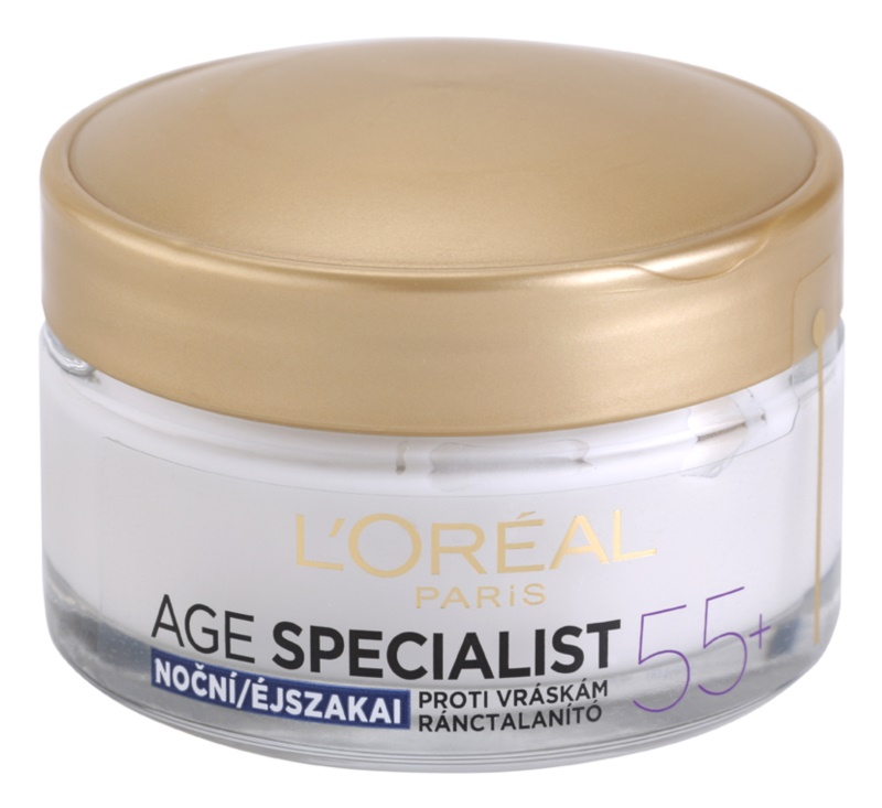 L'Oréal Paris Age Specialist 55+ nočna krema proti gubam