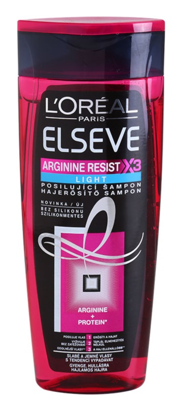 L'Oréal Paris Elseve Arginine Resist X3 Light posilňujúci šampón