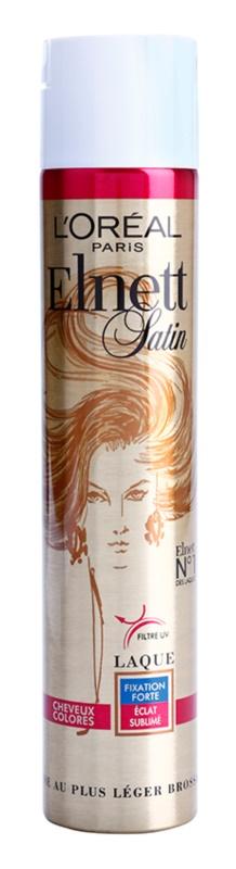 L'Oréal Paris Elnett Satin hajlakk a festett hajra UV filtrációval