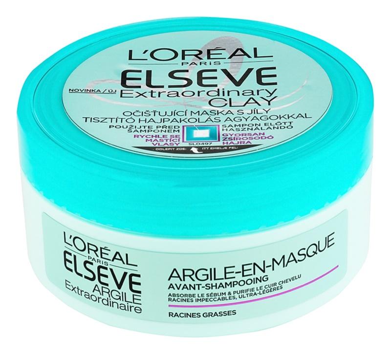 L'Oréal Paris Elseve Extraordinary Clay Reinigungsmaske für schnell fettiges Haar