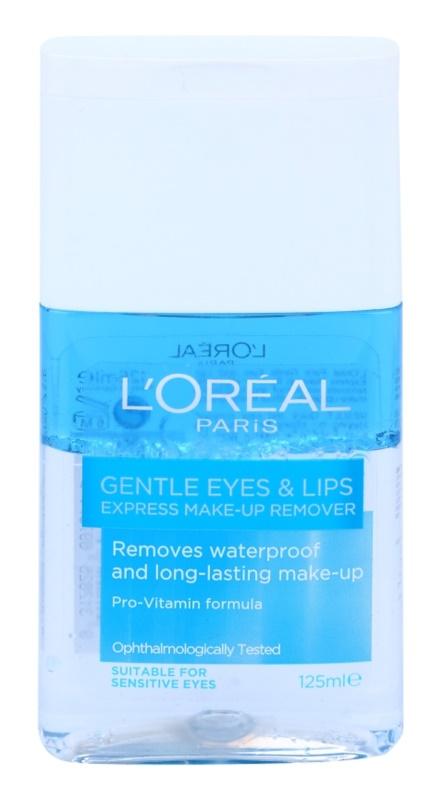 L'Oréal Paris Gentle засіб для зняття макіяжу з очей та губ для чутливої шкіри