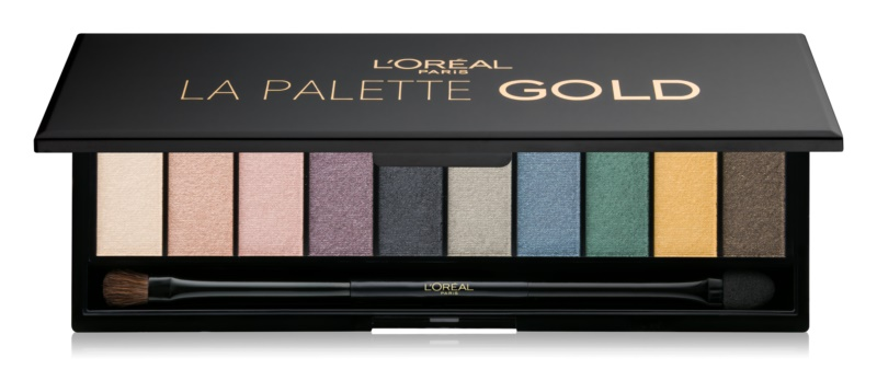 L'Oréal Paris Color Riche La Palette Gold палітра тіней з дзеркальцем та аплікатором