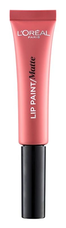L'Oréal Paris Lip Paint ruj de buze lichid cu efect matifiant