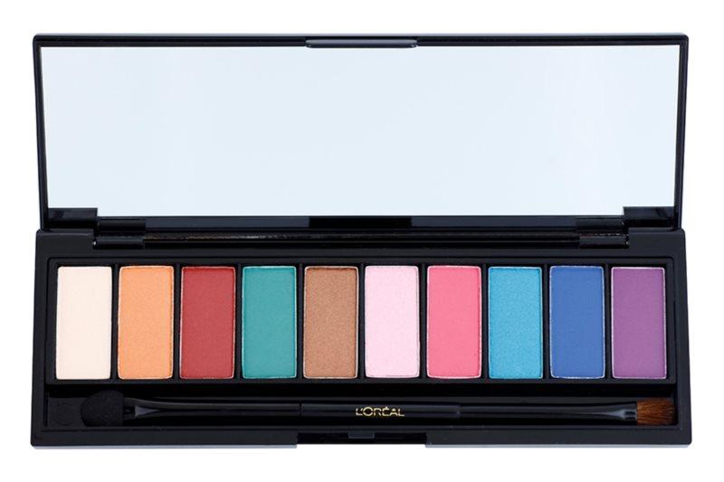 L'Oréal Paris Color Riche La Palette Glam szemhéjfesték paletta tükörrel és aplikátorral