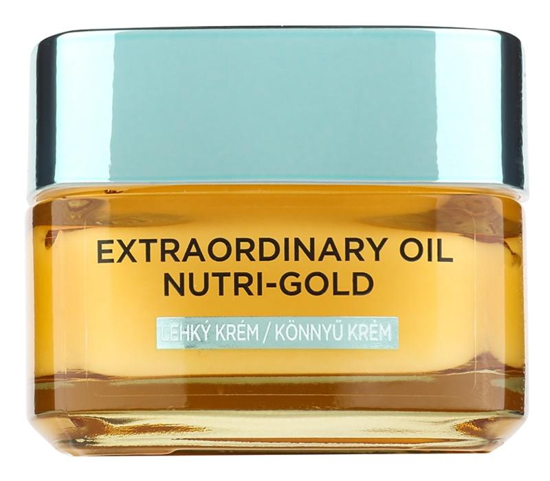 L'Oréal Paris Extraordinary Oil Nutri-Gold lahka hranilna oljasta krema