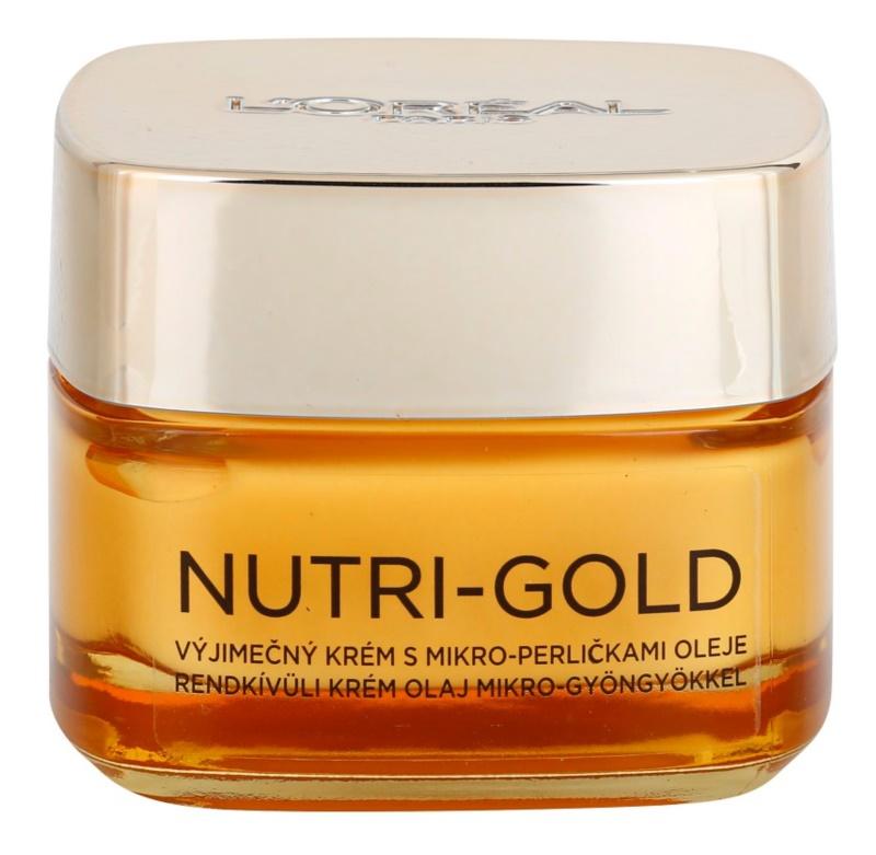 L'Oréal Paris Nutri-Gold nährende Crem mit Mikroperlen aus Öl