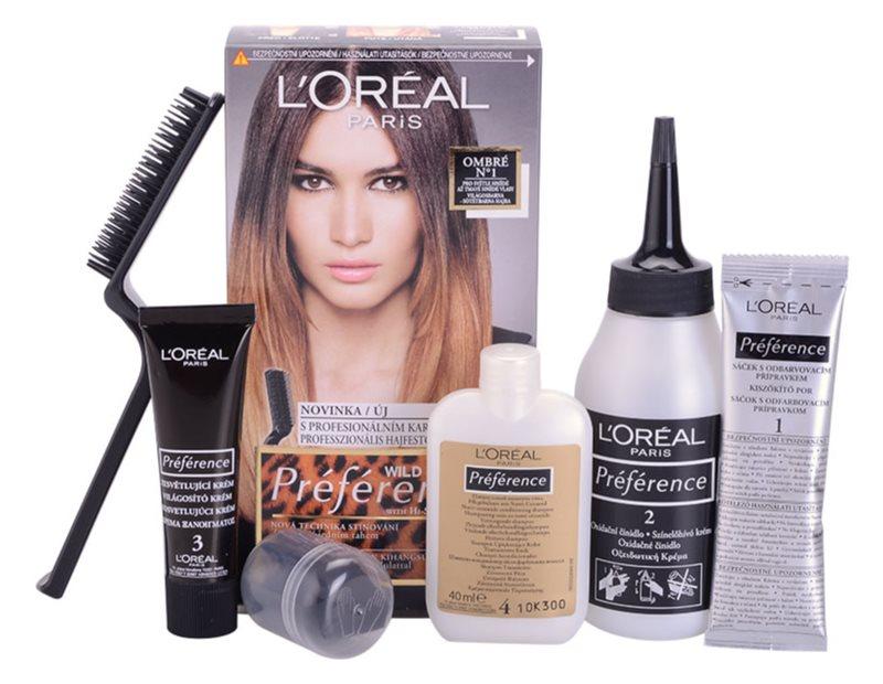 L'Oréal Paris Préférence Wild Ombrés coloração de cabelo