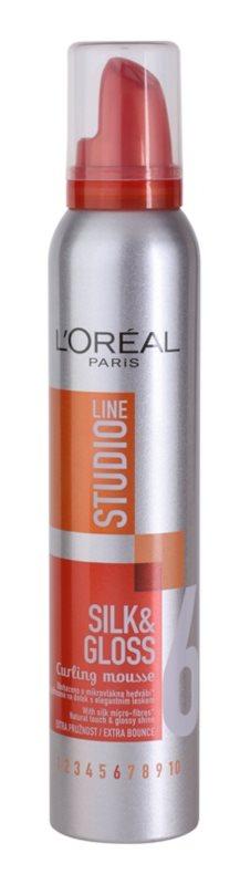 L'Oréal Paris Studio Line Silk&Gloss Curl Power Schuim  voor Modellereing van Krullen