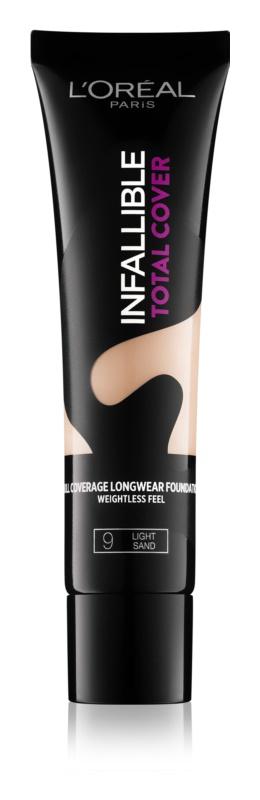 L'Oréal Paris Infallible Total Cover стійкий тональний крем з матуючим ефектом