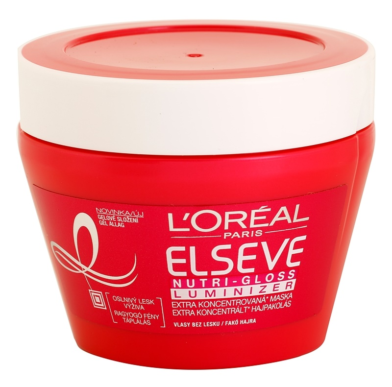 L'Oréal Paris Elseve Nutri-Gloss Luminizer vyživující maska na vlasy pro lesk