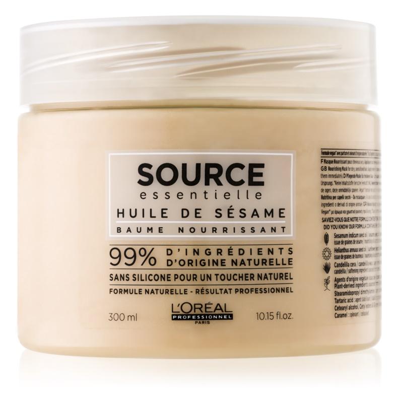 L'Oréal Professionnel Source Essentielle Sesame Oil Maske mit ernährender Wirkung für empfindliche Haare