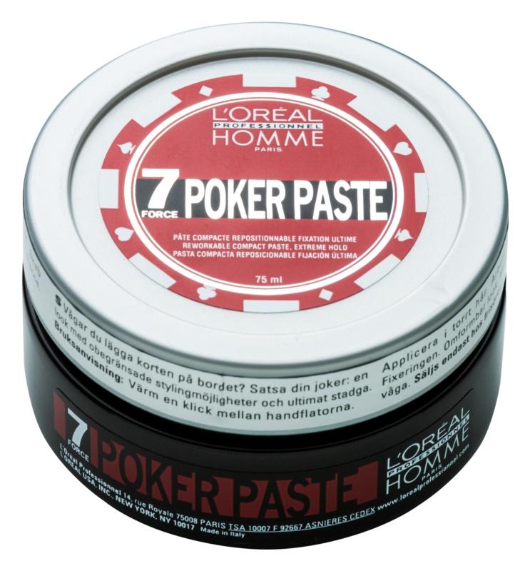 L'Oréal Professionnel Homme 7 Poker pasta pentru modelat fixare foarte puternica