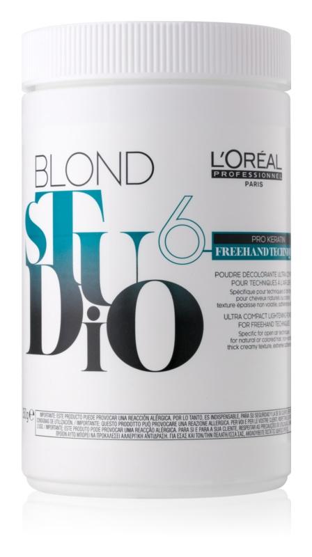 L'Oréal Professionnel Blond Studio Freehand Techniques 6 pudra decoloranta
