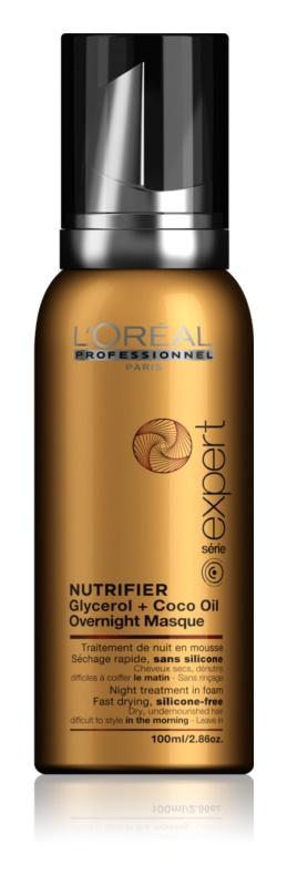 L'Oréal Professionnel Série Expert Nutrifier Nachtpflegeschaum für trockenes und beschädigtes Haar