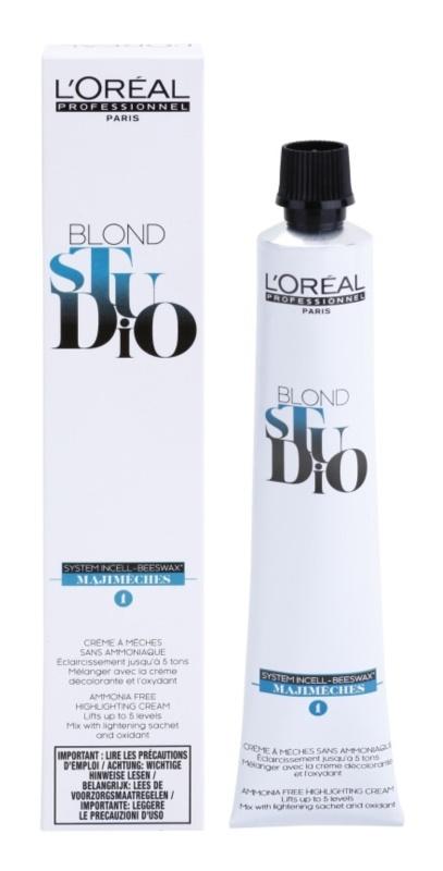 L'Oréal Professionnel Blond Studio Majimeches 1 élénkítő krém ammónia nélkül