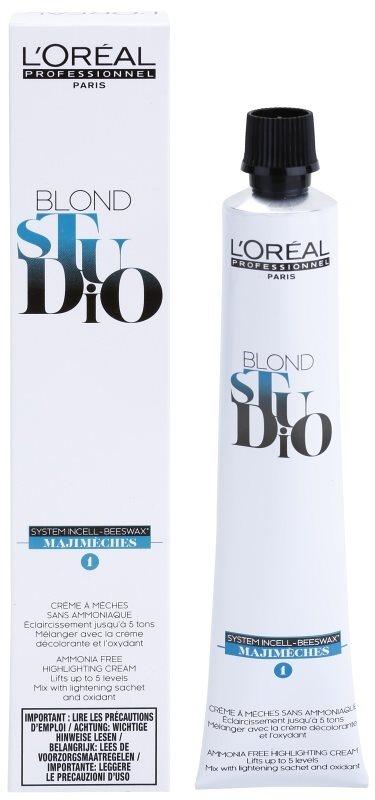 L'Oréal Professionnel Blond Studio Majimeches 1 zosvetľujúcí krém bez amoniaku