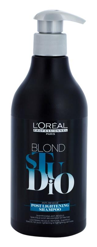 L'Oréal Professionnel Blond Studio Post Lightening Sampon pentru par decolorat si evidențiat