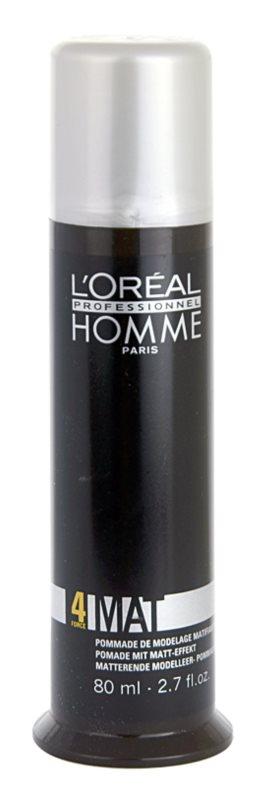 L'Oréal Professionnel Homme 4 Force Mat Modellierende Haarpaste für mattes Aussehen