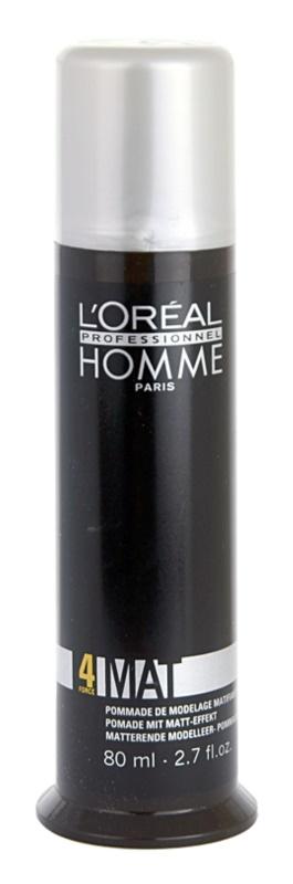 L'Oréal Professionnel Homme 4 Force Mat pasta pentru modelat pentru un aspect mat
