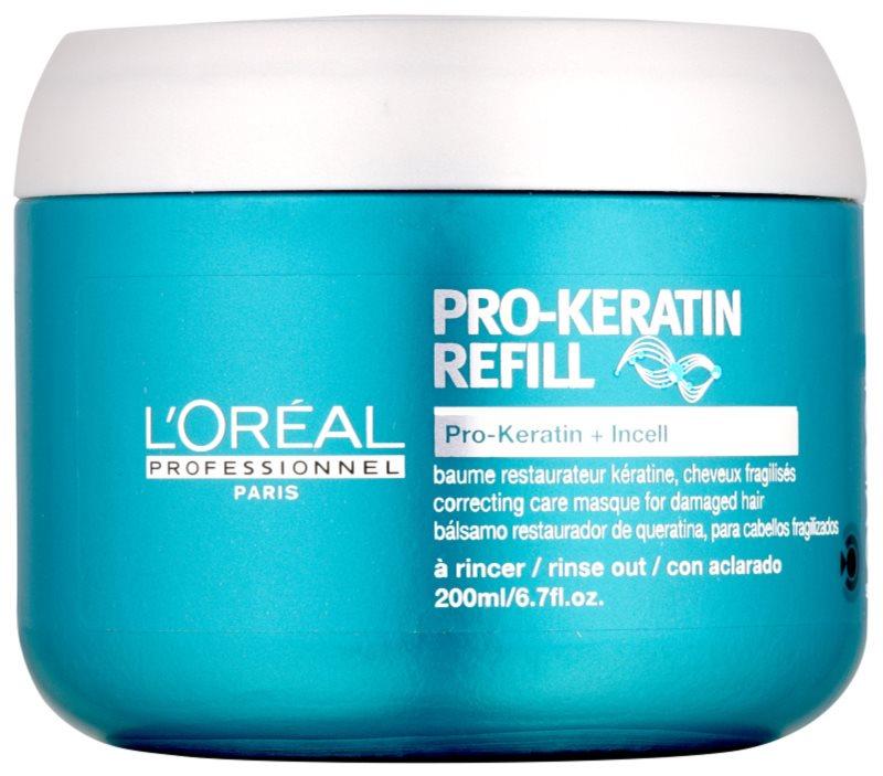 L'Oréal Professionnel Série Expert Pro-Keratin Refill regenererende sheet mask voor Futloos Haar