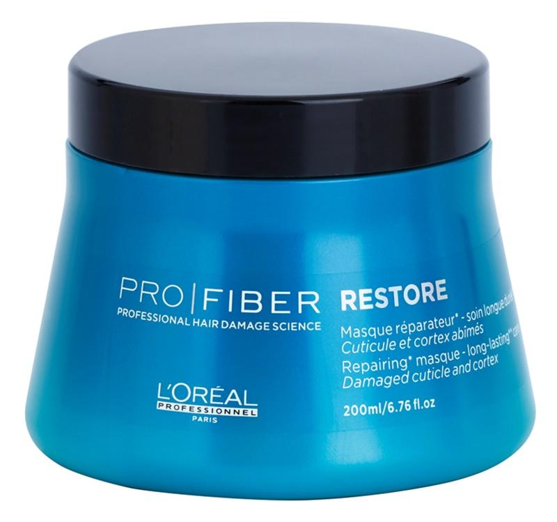 L'Oréal Professionnel Pro Fiber Restore megújító maszk sérült, vegyileg kezelt hajra