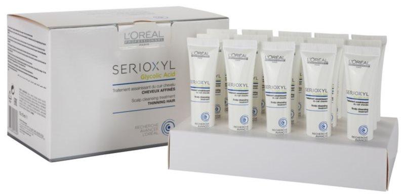 L'Oréal Professionnel Serioxyl Glycolic Acid kuracja oczyszczająca przed myciem do przerzedzonych włosów i skóry głowy