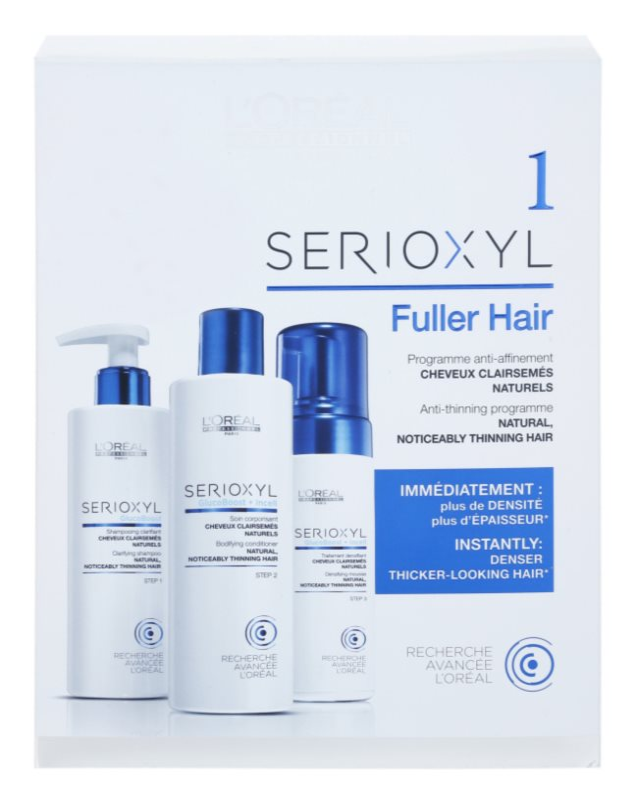 L'Oréal Professionnel Serioxyl GlucoBoost + Incell Fuller Hair kozmetická sada I.