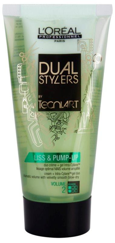 L'Oréal Professionnel Tecni Art Dual Stylers żel-krem do wygładzania przy zachowaniu dużej objętości włosów