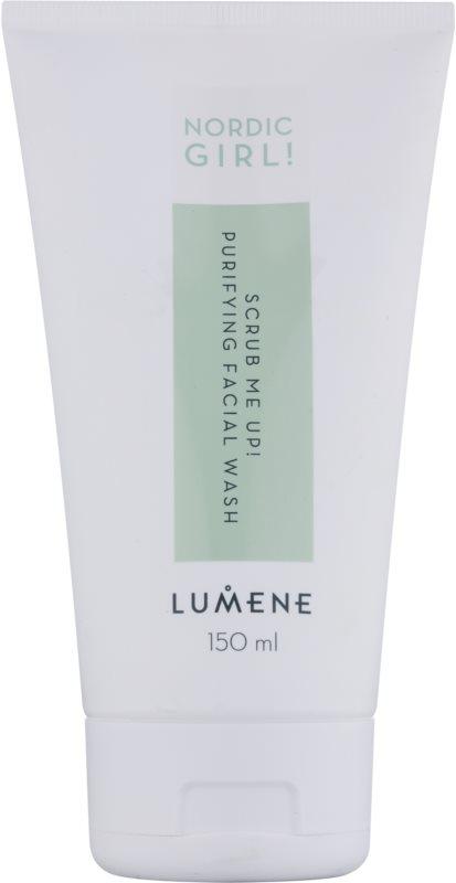Lumene Nordic Girl! Scrub Me Up! gel limpiador exfoliante para pieles con imperfecciones