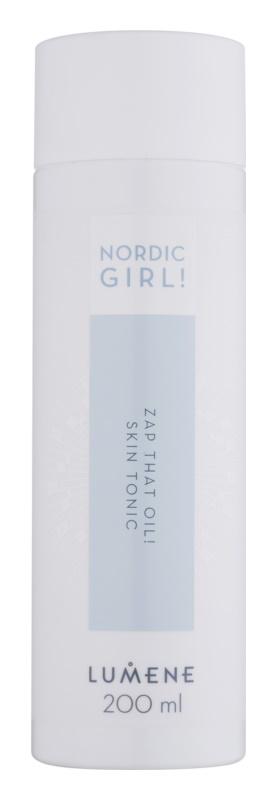 Lumene Nordic Girl! Zap That Oil! tónico limpiador para pieles jóvenes