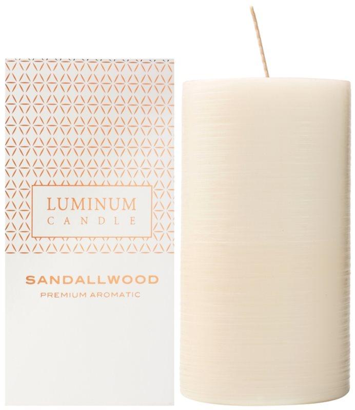 Luminum Candle Premium Aromatic Sandalwood candela profumata   grande (Ø 70 - 130 mm, 65 h)
