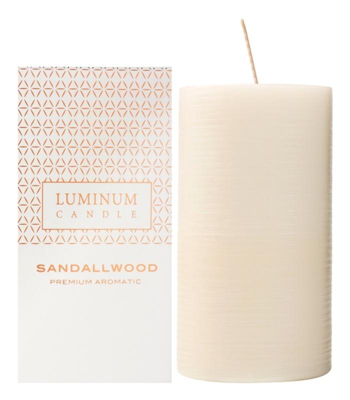 Luminum Candle Premium Aromatic Sandalwood vela perfumado   grande (Ø 70 - 130 mm, 65 h)